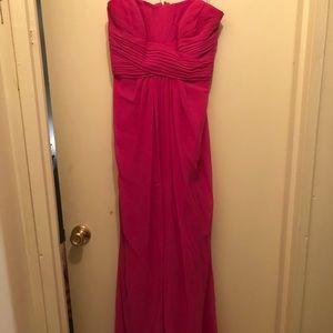 A pink David's Bridal dress